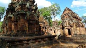 Templo de Angkor de Banteay Srei Fotos de archivo