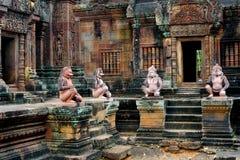 Templo de Angkor de Banteay Srei, Camboya Foto de archivo libre de regalías