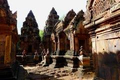 Templo de Angkor de Banteay Srei, Camboya Foto de archivo