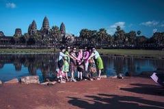 Templo de Angkor Wat Baixa de Siem Reap, Cambodia fotografia de stock royalty free