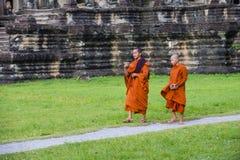 Templo de Angkor Wat em Cambodia Imagens de Stock