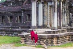 Templo de Angkor Wat em Cambodia Foto de Stock