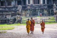 Templo de Angkor Wat em Cambodia Fotografia de Stock Royalty Free