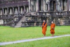 Templo de Angkor Wat em Cambodia Imagem de Stock Royalty Free
