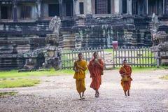 Templo de Angkor Wat en Camboya Foto de archivo