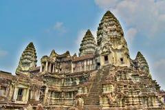 Templo de Angkor Wat en Camboya fotografía de archivo