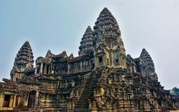 Templo de Angkor Wat, Siem Reap, Cambodia Imagens de Stock