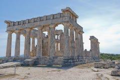 Templo de Aphaea imagen de archivo