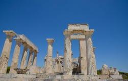 Templo de Aphaea Ilha Grécia de Aegina Imagem de Stock