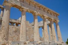 Templo de Aphaea Isla Grecia de Aegina Imagen de archivo