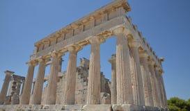Templo de Aphaea Isla Grecia de Aegina Fotos de archivo