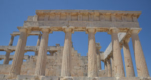 Templo de Aphaea Isla Grecia de Aegina Imágenes de archivo libres de regalías