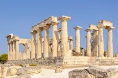 Templo de Aphaia - Aegina Imágenes de archivo libres de regalías