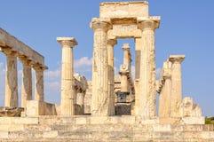 Templo de Aphaia - Aegina Fotos de archivo