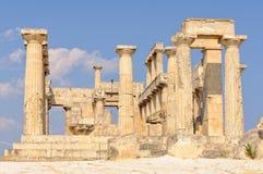 Templo de Aphaia - Aegina Foto de archivo libre de regalías