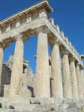 Templo de Aphaia - Aegina - Greece Imagens de Stock Royalty Free