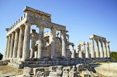 Templo de Aphaia en Grecia Foto de archivo libre de regalías
