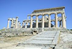 Templo de Aphaia en Grecia Imagen de archivo libre de regalías