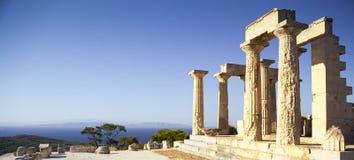 Templo de Aphaia en la isla de Aegina, Grecia Fotografía de archivo libre de regalías