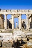 Templo de Aphaia en la isla de Aegina, Grecia Imágenes de archivo libres de regalías