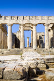 Templo de Aphaia na ilha de Aegina, Grécia Imagens de Stock Royalty Free