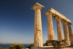 Templo de Aphaia na ilha de Aegina, Grécia Fotografia de Stock