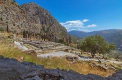 Templo de Apollo - Delphi - Grécia Fotografia de Stock