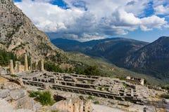 Templo de Apollo em Delphi Greece Imagens de Stock