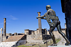 Templo de Apollo em Pompeii Foto de Stock