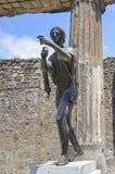 Templo de Apollo em Pompeii fotos de stock