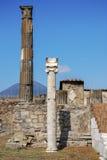 Templo de Apollo em Pompeii imagens de stock