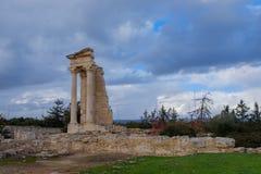 Templo de Apollo Hylates em Chipre imagens de stock
