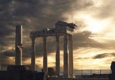 Templo de Apollo no lado imagem de stock royalty free