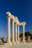 Templo de Apollon, lado, Turquia Fotografia de Stock