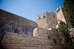 Templo de Apolo antiguo en Lindos Foto de archivo