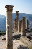 Templo de Apolo, Delfi Imágenes de archivo libres de regalías
