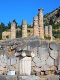 Templo de Apolo, Delphi, Grecia fotos de archivo libres de regalías