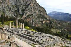 Templo de Apolo, Delphi, Grecia Imagen de archivo libre de regalías