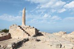 Templo de Apolo en Aegina Foto de archivo