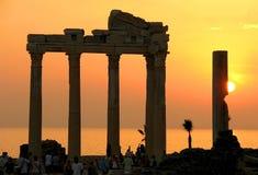 Templo de Apolo en cara Fotos de archivo