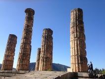 Templo de Apolo en Delphi Imagenes de archivo