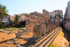 Templo de Apolo, Siracusa Fotografía de archivo