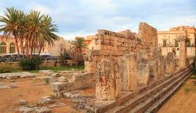Templo de Apolo, Siracusa Fotos de archivo