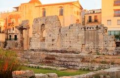 Templo de Apolo, Siracusa Foto de archivo libre de regalías