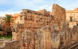 Templo de Apolo, Siracusa Fotografía de archivo libre de regalías