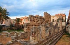 Templo de Apolo, Siracusa Imagenes de archivo