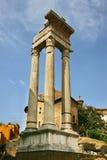 Templo de Apolo, Teatro di Marcelo, Roma Fotos de archivo