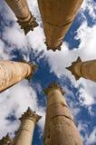 Templo de Artemis em Jerash fotografia de stock