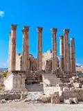 Templo de Artemis en Jerash, Jordania. imagen de archivo