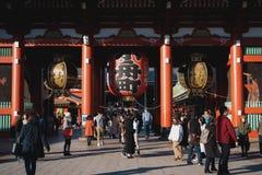 Templo de Asakusa en Tokio Japón imagenes de archivo